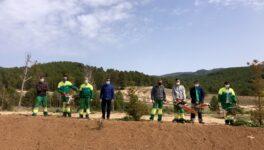 La Fundación Banco Santander hace posible la primera cuadrilla forestal en el Campus Diversia